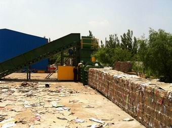 scrap_cartons_baled_by_horizontal_baling_machine