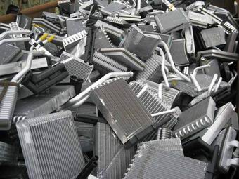 scrap_radiators_from_automobiles_for_copper_aluminum_separating