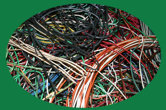 copper wire to be recycled