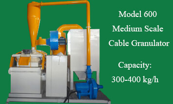Model 600 Medium Scale Cable Granulator