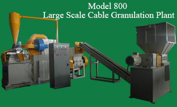 Model 800 Large Scale Cable Granulation Plant